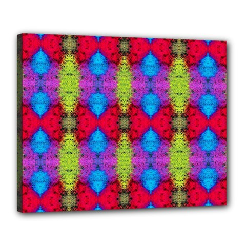 Colorful Painting Goa Pattern Canvas 20  X 16  by Costasonlineshop