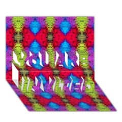 Colorful Painting Goa Pattern You Are Invited 3d Greeting Card (7x5)  by Costasonlineshop