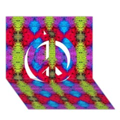 Colorful Painting Goa Pattern Peace Sign 3d Greeting Card (7x5)