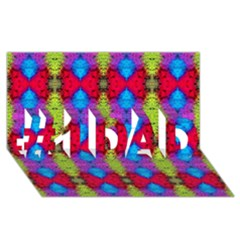 Colorful Painting Goa Pattern #1 Dad 3d Greeting Card (8x4)  by Costasonlineshop