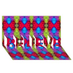 Colorful Painting Goa Pattern Believe 3d Greeting Card (8x4)  by Costasonlineshop