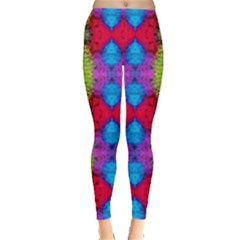 Colorful Painting Goa Pattern Women s Leggings by Costasonlineshop