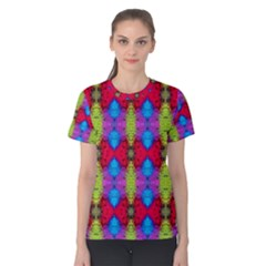 Colorful Painting Goa Pattern Women s Cotton Tee
