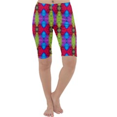 Colorful Painting Goa Pattern Cropped Leggings by Costasonlineshop
