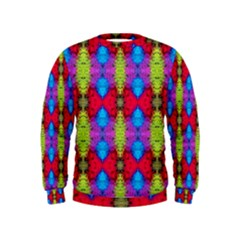 Colorful Painting Goa Pattern Boys  Sweatshirts