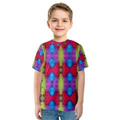 Colorful Painting Goa Pattern Kid s Sport Mesh Tees