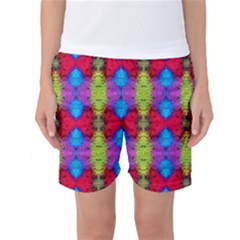 Colorful Painting Goa Pattern Women s Basketball Shorts by Costasonlineshop