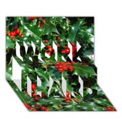 Holly 2 Work Hard 3d Greeting Card (7x5)