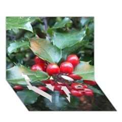 Holly 1 Love Bottom 3d Greeting Card (7x5)  by trendistuff