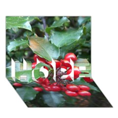 Holly 1 Hope 3d Greeting Card (7x5)