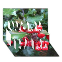 Holly 1 Work Hard 3d Greeting Card (7x5)
