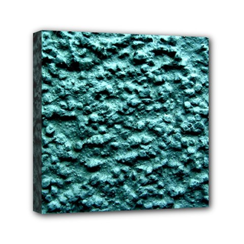 Green Metallic Background, Mini Canvas 6  X 6  by Costasonlineshop