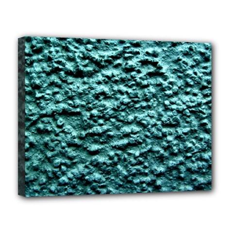 Green Metallic Background, Canvas 14  X 11  by Costasonlineshop