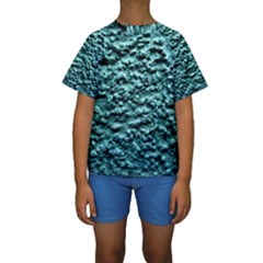 Green Metallic Background, Kid s Short Sleeve Swimwear