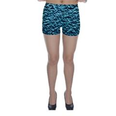 Green Metallic Background, Skinny Shorts by Costasonlineshop