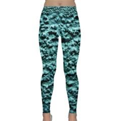 Green Metallic Background, Yoga Leggings by Costasonlineshop