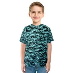 Green Metallic Background, Kid s Sport Mesh Tees