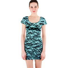 Green Metallic Background, Short Sleeve Bodycon Dresses by Costasonlineshop