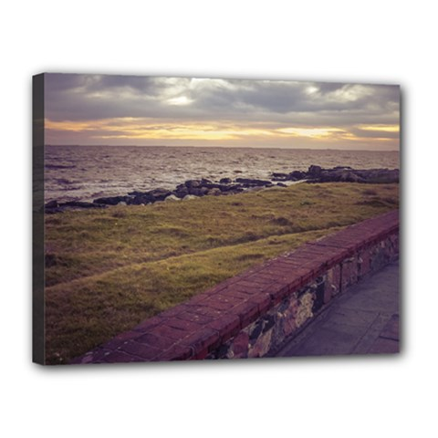 Playa Verde Coast In Montevideo Uruguay Canvas 16  x 12  by dflcprints