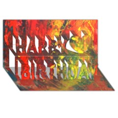 Wild Happy Birthday 3d Greeting Card (8x4)  by timelessartoncanvas