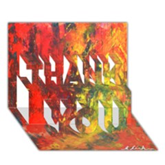 Wild Thank You 3d Greeting Card (7x5)  by timelessartoncanvas