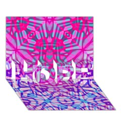 Ethnic Tribal Pattern G327 Hope 3d Greeting Card (7x5)  by MedusArt