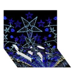 Christmas Stars Love Bottom 3d Greeting Card (7x5)  by trendistuff