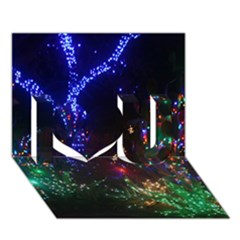 Christmas Lights 2 I Love You 3d Greeting Card (7x5)  by trendistuff