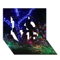 Christmas Lights 2 Love 3d Greeting Card (7x5)  by trendistuff