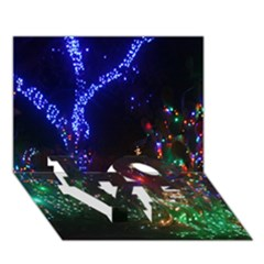 Christmas Lights 2 Love Bottom 3d Greeting Card (7x5)  by trendistuff