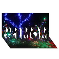 Christmas Lights 2 #1 Mom 3d Greeting Cards (8x4)