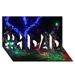 Christmas Lights 2 #1 Dad 3d Greeting Card (8x4)  by trendistuff