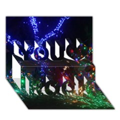 Christmas Lights 2 You Rock 3d Greeting Card (7x5)