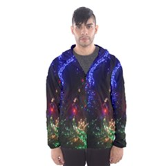 Christmas Lights 2 Hooded Wind Breaker (men) by trendistuff
