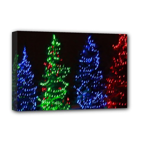 Christmas Lights 1 Deluxe Canvas 18  X 12   by trendistuff