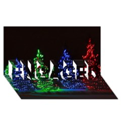 Christmas Lights 1 Engaged 3d Greeting Card (8x4)