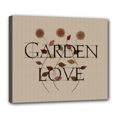 Garden Love Gardener Florist Nature - Deluxe Canvas 24  x 20  (Stretched)