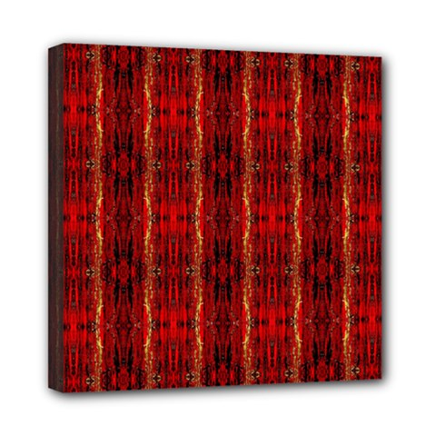 Red Gold, Old Oriental Pattern Mini Canvas 8  X 8  by Costasonlineshop