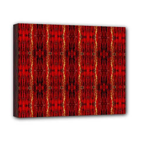 Red Gold, Old Oriental Pattern Canvas 10  X 8