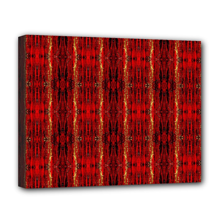 Red Gold, Old Oriental Pattern Deluxe Canvas 20  x 16