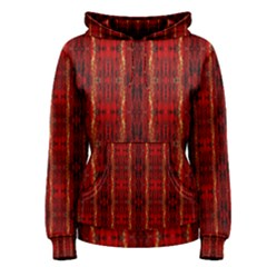 Red Gold, Old Oriental Pattern Women s Pullover Hoodies