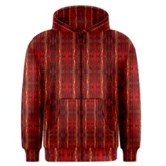 Red Gold, Old Oriental Pattern Men s Zipper Hoodies by Costasonlineshop