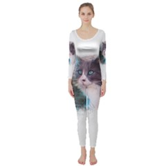 Cat Splash Png Long Sleeve Catsuit by infloence