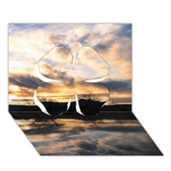 Sun Reflected On Lake Clover 3d Greeting Card (7x5)