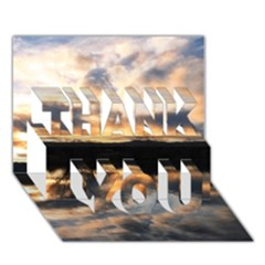 SUN REFLECTED ON LAKE THANK YOU 3D Greeting Card (7x5)  by trendistuff
