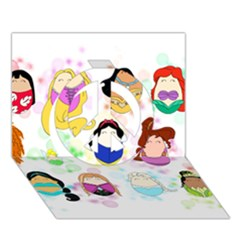 Disney Ladies Peace Sign 3d Greeting Card (7x5)