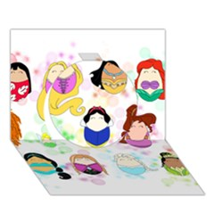 Disney Ladies Circle 3d Greeting Card (7x5)