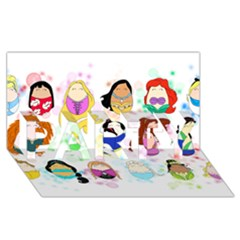 Disney Ladies Party 3d Greeting Card (8x4)