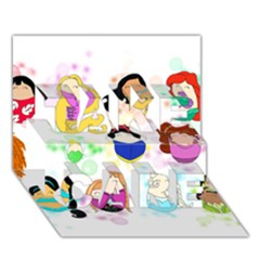 Disney Ladies Take Care 3d Greeting Card (7x5)