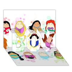 Disney Ladies Boy 3d Greeting Card (7x5)